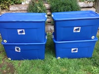 4 plastic 45 gallon containers/totes/bins Bonney Lake, 98391