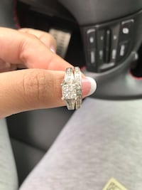 14k white gold and composite diamond bridal set. Size 7 Fort Lee, 07024