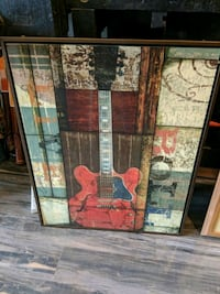 Guitar picture and frame