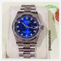 round silver-colored Rolex analog watch with link bracelet Enfield, EN1 2TB