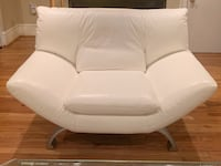 STEAL Bova Modern White Leather Furniture - living, dining, tables