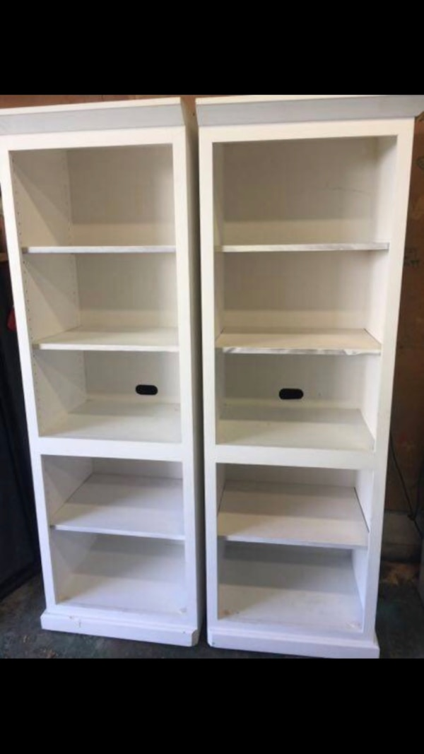 2 Solid Wood Bookcases