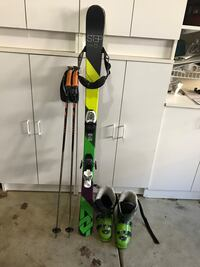 3 sets of youth skies 2 sets of golf clubs  138's, 138's, and 110's Volkl