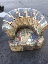 Blue, green, burgundy and tan Chair South Holland, 60473
