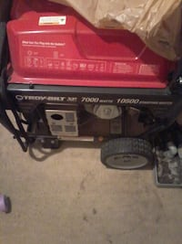 black and red Troy-Built portable generator Stockton, 95206