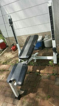 black, gray, and white weight bench Central Islip, 11722