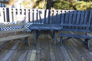 OUTDOOR TABLE & BENCHES