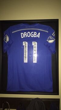 Didier Drogba game worn jersey signed Laval, H7G