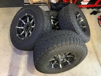 17x9 Fuel Off Road with 305/70/17 Toyo Open Country ATs Temecula, 92592