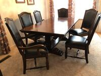 rectangular brown wooden table with four chairs dining set Douglasville, 30135
