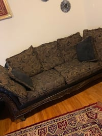 2 Sofas & 2 side tables with coffee table