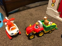 Fisher-price helicopter and farm tractor. Villa Park, 60181