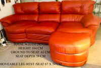Leather Sofa settee 2 years old