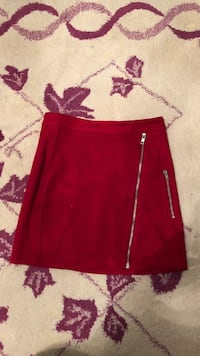 Missguided suede red skirt  Toronto, M9R 2T5