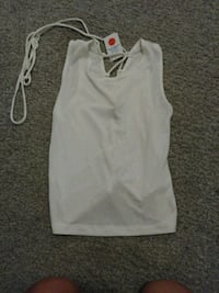White tank. Shows back size small