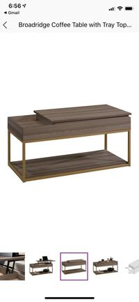 Lift top grey coffee table for sale!