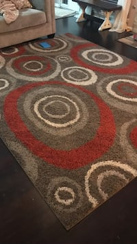 Red, white, and gray area rug and runner Spring, 77373