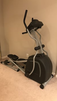 Black and gray elliptical trainer Sterling, 20165
