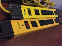 two yellow-and-black ANoma power strips