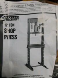 Shop press with out side posts