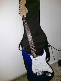 Fender squier strat blue guitar