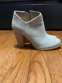 7.5 Women's Gray Suede Ankle Boot