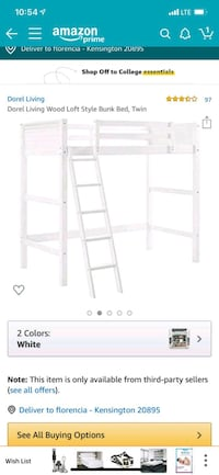 Loft syle single bunk bed.  Haymarket, 20169