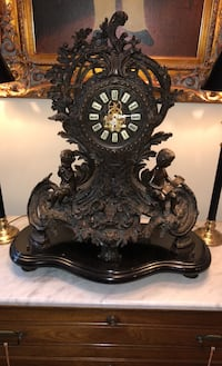 Solid Brass and Granite Antique Clock Sterling, 20165