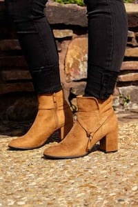 The Cameron Faux Suede Bootie in Iced Latte Washington