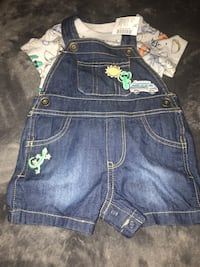 Baby summer clothes-shorts overalls and 2 shorts Toronto, M9C 5J5