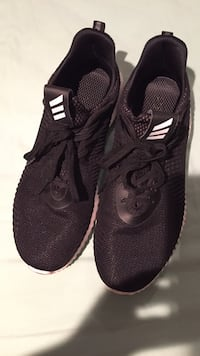 Pair of black adidas running shoes Vancouver, V6K 1Y8