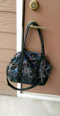 black and blue leather tote bag Sandy Springs, 30350