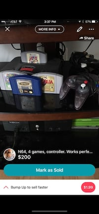 Nintendo 64 comes with 4 games 1 controller price is negotiable. Clarksville, 37042
