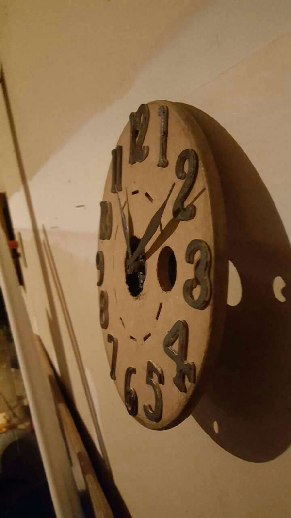 8 Inch Wooden Spool Clocks