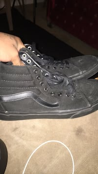 all black high top Vans Triangle, 22172