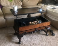 Antique wood with with presents remodeling- pop up coffee table Arlington, 22202