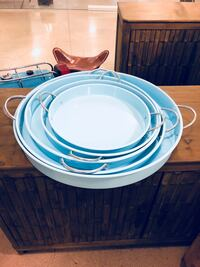 Set of 5 blue serving trays Whittier, 90603