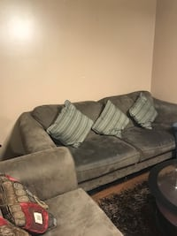 Brown fabric 3-seat sofa Markham, L6B