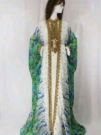 white and green floral kaftan  Brampton, L7A 3W7