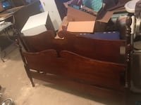 Antique full size bed headboard and footboard. unfortunately i do not have the side rails