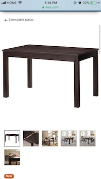 Ikea extendable dining table brown Toronto, M1G 1G1