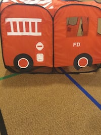 red , white and black fire truck themed tent Winnipeg, R2J 0T8