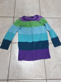 blue, purple, cyan, and green striped sweater Medicine Hat, T1B 1C5