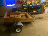 Brown wooden utility trailer Lincoln