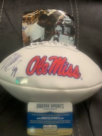 Signed Patrick Willis Ole Miss Football