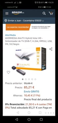 Aver Media AVerTV Volar Green HD - Sintonizador