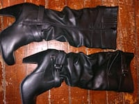 pair of black leather boots Owasso, 74055