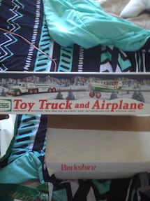 Toy truck and airplane box