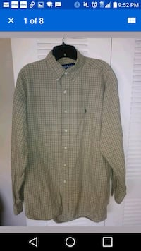 Mens Ralph Lauren Plaid Polo Shirt Marlow Heights, 20748