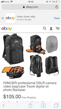 Fancier DSLR kingkong backpack 米西索加, L5C 1C2